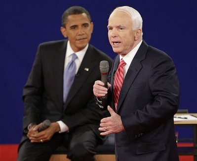 Senators Obama and McCain at a recent debate