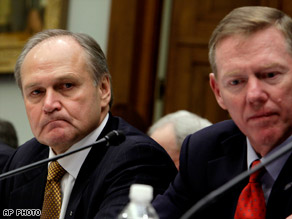 Chrysler's Nardelli and Ford's Mullaly on Capital Hill (CNN Photo)